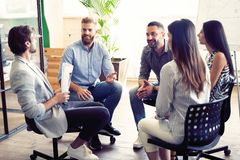 Free Teamwork Is A Key To Success. Business People In Smart Casual Wear Talking And Smiling While Having A Brainstorm Meeting Royalty Free Stock Photo - 139076295