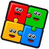 Teamwork jigsaw puzzle Stock Image