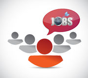 Teamwork jobs illustration design Stock Photos