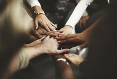 Teamwork Join Hands Support Together Concept Royalty Free Stock Image