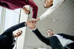 Teamwork Join Hands Support Together Concept. Team building. royalty free stock photo
