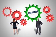 Teamwork kan vara lösningen Arkivbild