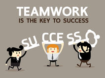 Teamwork is the key to success Royalty Free Stock Photo