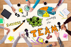 Teamwork is a key to success. Stock Photography