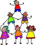 Teamwork-Kinder stockbilder