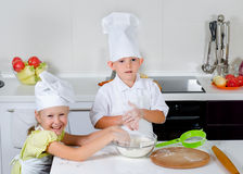 Teamwork in the kitchen Royalty Free Stock Images