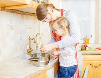 Teamwork in the kitchen Royalty Free Stock Photography