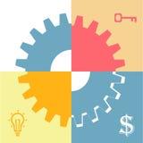 Teamwork-Konzept FLACH Stockbilder