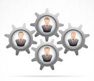 Teamwork-Konzept: Geschäftsmann, der zusammenarbeitet Stockfoto