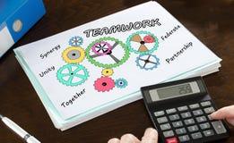 Teamwork-Konzept veranschaulicht auf einem Papier Lizenzfreie Stockbilder