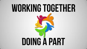 Teamwork-Konzeptdefinition Stockfotografie