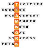 Teamwork-Kreuzworträtsel Lizenzfreie Stockbilder