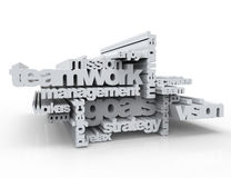 Teamwork - Kreuzworträtselkonzept Stockfoto