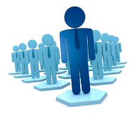 Teamwork leader. A crowd of 3d man that represent a teamwork with a leader (3d render Stock Photography