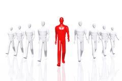 Teamwork Leader Business Concept 3D render Stock Photo