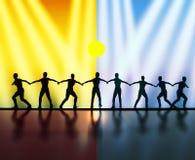 Teamwork and leadership stock illustration