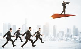 Teamwork and leadership concept stock images