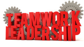 Teamwork and leadership Royalty Free Stock Images