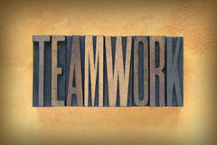 Teamwork Letterpress Royalty Free Stock Images