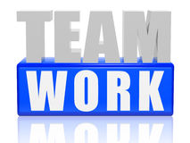 Teamwork - letters and cubes. 3d color letters and cubes with text - teamwork Stock Photo