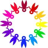Teamwork logo Royalty Free Stock Photo