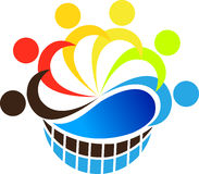Teamwork logo stock illustration
