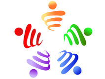 Teamwork logo Stock Photography