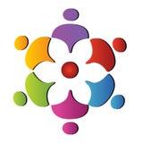 Teamwork logo. Teamwork support helping group business logo vector Stock Images