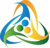 Teamwork logo. A vector drawing represents teamwork logo design Royalty Free Stock Image