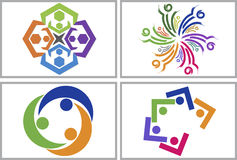 Teamwork logo collection stock illustration