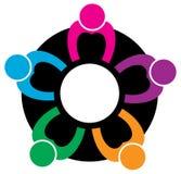 Teamwork logo Royalty Free Stock Photography