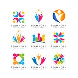 Teamwork-Logodesignvektor organisatorisches Logodesign vektor abbildung