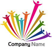 Teamwork logos. Illustration art of a teamwork logos with isolated background Royalty Free Stock Photography