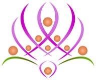 Teamwork lotus Royalty Free Stock Image