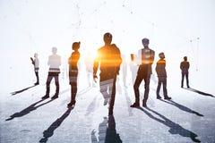 Teamwork-, möte- och nätverksbegrepp royaltyfria bilder