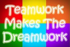 Teamwork macht das Dreamwork-Konzept lizenzfreie stockfotografie