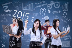 Teamwork make idea for resolutions Stock Image