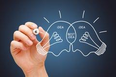 Teamwork Makes Best Idea Light Bulbs Concept royalty free stock photo