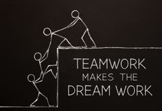 Teamwork Makes The Dream Work Concept stock illustration
