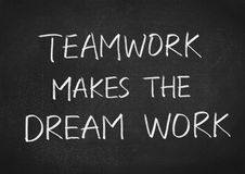 Teamwork makes the dream work Stock Images