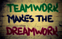 Teamwork Makes The Dreamwork Concept Royalty Free Stock Image