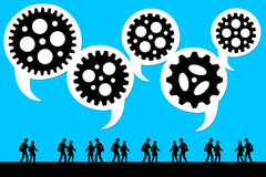 Teamwork. Making a team communicate and work successfully Royalty Free Stock Images