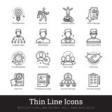 Teamwork, Management, Business People Vector Icons stock illustration
