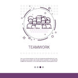 Teamwork Management Business Team Banner with Copy Space Stock Images