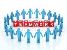 Teamwork Management. 3d render Teamwork Management (close-up Stock Image