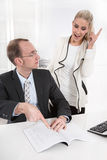 Teamwork - manager and his secretary. Stock Images