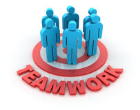 Teamwork Market Royalty Free Stock Images