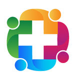 Teamwork medical people logo Royalty Free Stock Photography
