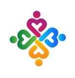 Teamwork medical union logo Royalty Free Stock Photo