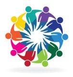 Teamwork meeting business people logo Royalty Free Stock Photo